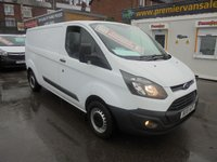 USED 2015 15 FORD TRANSIT CUSTOM 290 ECO-TECH 2.2 TDCI LONG WHEEL BASE LOW ROOF P/V, FULL SERVICE HISTORY, ((( FINANCE AVAILABLE ))) LWB LOW ROOF P/V FULL SERVICE HISTORY PREMIER VAN SALES