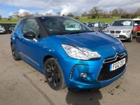 USED 2012 12 CITROEN DS3 1.6 DSTYLE PLUS 3d 120 BHP 79K MILES LIGHTNING BLUE GREAT CONDITION APPROVED CARS AND FINANCE ARE PLEASED TO OFFER THE CITROEN DS3 1.6 DSTYLE PLUS 3d 120 BHP, PETROL, IN FANTASTIC LIGHTING BLUE,SOME OF THE KEY FEATURES OF THE CAR ARE POWER STEERING,AIR CONDITIONING,ALARM,ELECTRIC WINDOWS,ALLOY WHEELS,CENTRAL LOCKING,METALLIC PAINT,ELECTRIC FOLDING MIRRORS AND THE CAR COMES WITH *2 KEYS*. AND A FULL SERVICE HISTORY IS ALSO INCLUDED WITH THE CAR. WITH ONLY 79K MILES THIS CAR IS A MUST SEEN TO BE APPRECIATED.