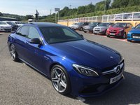 USED 2015 65 MERCEDES-BENZ C CLASS 4.0 AMG C 63 PREMIUM 4d 469 BHP Brilliant Blue, AMG Switchable exhaust, 19 inch alloys, Premium & Night Packs