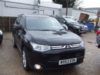 2013 MITSUBISHI OUTLANDER 2.3 DI-D GX 4 5d 147 BHP IN METALLIC BLACK WITH ONLY 83,000 MILES WITH FULL SERVICE HISTORY £10499.00