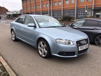 USED 2007 57 AUDI A4 2.0 T FSI S LINE 4d 200 BHP Cracking, A4, sat/nav, alloys, 6 speed gearbox,