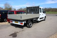 USED 2013 13 RENAULT MASTER 2.3 LL35 DCI L/R DCB DROPSIDE 1d 145 BHP CREW CAB REAR WHEEL DRIVE