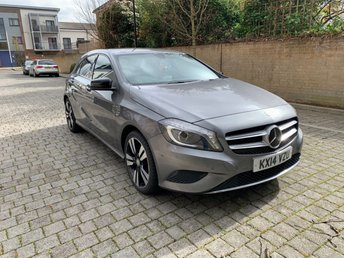 2014 MERCEDES-BENZ A CLASS 1.5 A180 CDI BLUEEFFICIENCY SPORT 5d AUTO 109 BHP £9995.00