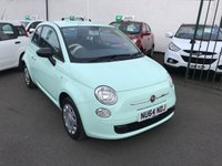 USED 2014 64 FIAT 500 1.2 POP 3d 69 BHP 1 OWNER-ONLY £30 ROAD TAX-LOW MILEAGE ONLY 17000-SPARE WHEEL