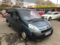 USED 2009 CITROEN DISPATCH 2.0 COMBI HDI L2H1 9STR 5 DOOR 118 BHP IN METALLIC BLUE WITH 9 SEATS (TRADE CLEARANCE APPROVED CARS ARE PLEASED TO OFFER THIS CITROEN DISPATCH 2.0 COMBI HDI L2H1 9 SEATER TR 5 DOOR 118 BHP IN METALLIC BLUE WITH SOME SERVICE BILLS WITH A MOT TILL 4 JUNE 2019. VERY CHEAP 9 SEATER PERFECT FAMILY VEHICLE.