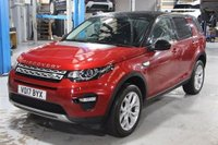 USED 2017 17 LAND ROVER DISCOVERY SPORT 2.0 TD4 HSE 5d 180 BHP CAR HAS LANDROVER SERVICE PACK, STUNNING FIRENZE RED METALLIC WITH FULL EBONY GRAINED LEATHER. ONLY ONE OWNER FROM NEW. UNDER LAND ROVER WARRANTY. THIS IS THE CHEAPEST LIKE FOR LIKE ON AUTOTRADER. 7 SEATS. PANORAMIC GLASS ROOF. SATELLITE NAVIGATION. FRONT AND REAR PARKING SENSORS. HEATED FRONT SEATS. AIR CONDITIONING. ELECTRIC WINDOWS. REMOTE CENTRAL LOCKING WITH TWO KEYS. PLEASE GOTO www.lowcostmotorcompany.co.uk TO VIEW OVER 120 CARS IN STOCK.