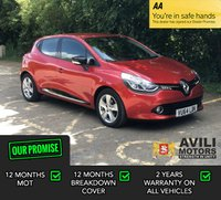 USED 2014 64 RENAULT CLIO 0.9 DYNAMIQUE MEDIANAV ENERGY TCE S/S 5d 90 BHP