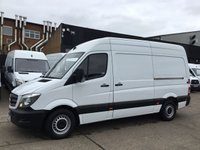 USED 2015 15 MERCEDES-BENZ SPRINTER 2.1 313CDI MWB HIGH ROOF 130BHP. F/S/H. 1 OWNER. FINANCE. 1 OWNER. FULL SERVICE HISTORY. FINANCE. PX WELCOME