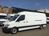 USED 2016 66 MERCEDES-BENZ SPRINTER 2.1 314CDI LWB HIGH ROOF 140BHP EURO 6. AIRCON. WARRANTY. AIRCON. EURO 6. F/S/H. MERC WARRANTY. FINANCE. PX