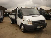 2012 FORD TRANSIT 2.2 350  Extended Frame Dropside 125 ps one stop body £5995.00