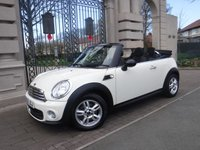 USED 2013 13 MINI CONVERTIBLE 1.6 ONE 2d 98 BHP ****FINANCE ARRANGED****PART EXCHANGE WELCOME*** ELECTRIC CONVERTIBLE ROOF*BLUETOOTH*REAR PARKING SENSORS*DAB