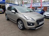 USED 2015 64 PEUGEOT 3008 1.6 HDI ALLURE 5d 115 BHP 0%  FINANCE AVAILABLE ON THIS CAR PLEASE CALL 01204 393 181