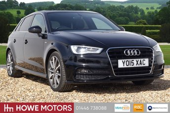 "2015 AUDI A3 2.0 TDI S LINE 5d 148 BHP NAVIGATION BLUETOOTH PHONE USB DAB 18"" ALLOYS £15490.00"
