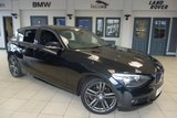USED 2013 13 BMW 1 SERIES 2.0 118D M SPORT 5d 141 BHP full service history FINISHED IN STUNNING SAPPHIRE BLACK WITH ANTHRACITE CLOTH SEATS + EXCELLENT BMW SERVICE HISTORY + £30 ROAD TAX + DAB RADIO + BLUETOOTH + PARKING SENSORS + AUTOMATIC AIR CONDITIONING
