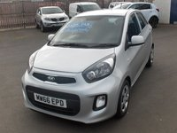 USED 2017 66 KIA PICANTO 1.0 1 AIR 5d 65 BHP BALANCE OF MANUFACTURERS SEVEN YEAR WARRANTY