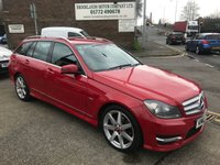 2012 MERCEDES-BENZ C-CLASS 2.1 C220 CDI BLUEEFFICIENCY SPORT 5d AUTO 168 BHP £8995.00