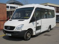 USED 2008 58 MERCEDES-BENZ SPRINTER 2.1 515CDI LWB 150 BHP 11 SEATER DIESEL AUTO MINIBUS WITH LIFT ONE OWNER CAMERA & TAIL LIFT 5000 KG
