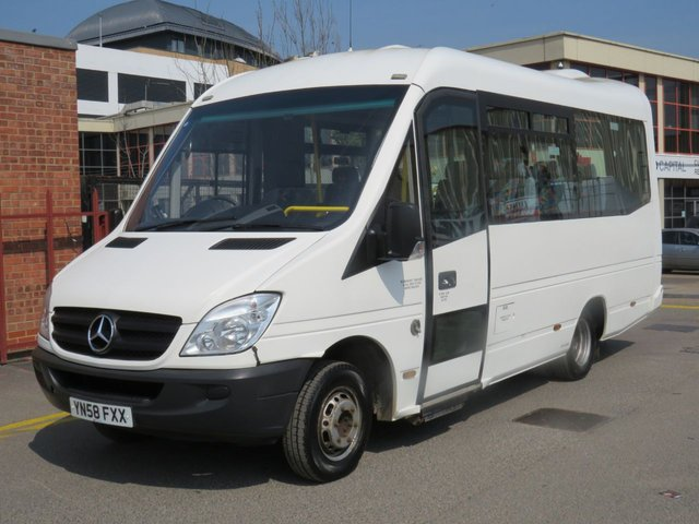 2008 58 MERCEDES-BENZ SPRINTER 2.1 515CDI LWB 150 BHP 11 SEATER DIESEL AUTO MINIBUS WITH LIFT AIR CON CAMPER CONVERSION