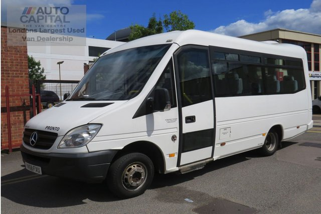 2008 58 MERCEDES-BENZ SPRINTER 2.1 515CDI LWB 150 BHP AUTO 17 SEATS MINIBUS WITH LIFT  MOT UNTIL 22/04/2020