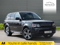 USED 2013 13 LAND ROVER RANGE ROVER SPORT 3.0 SDV6 HSE BLACK 5d AUTO 255 BHP FSH,LEATHER, NAV, DAB, TV, 20""
