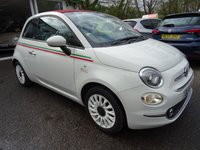 USED 2016 16 FIAT 500 1.2 CONVERTIBLE LOUNGE 3d 69 BHP NEW SHAPE *ITALIA SPECIAL EDITION* *ITALIA SPECIAL EDITION* Convertible New Shape! Full Service History (Fiat + ourselves), One Owner, MOT until April 2020, Great fuel economy! Only £20 Road Tax!