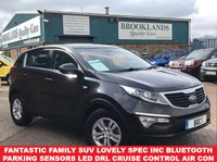 USED 2014 63 KIA SPORTAGE 1.6 1 Phantom Black only 22666miles 6 Speed Man Kia Warr Jan 2021 133 BHP Fantastic Family SUV Lovely spec inc Bluetooth Parking Sensors LED DRL Cruise Control Air Con