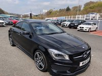 USED 2016 16 MERCEDES-BENZ CLA 2.1 CLA 220 D AMG LINE 4d AUTO 174 BHP Metallic Black, full leather, COMAND Sat Nav, Panoramic glass sunroof ++