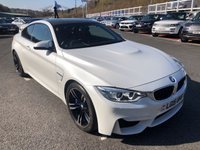 USED 2015 15 BMW M4 3.0 M4 2d AUTO 426 BHP Metallic White with Red leather sports seats, Carbon Roof, 19 inch ++ One owner 19,000 miles