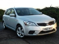 USED 2012 KIA CEED 1.4 VR7 5dr 2012. Great Value & S/History