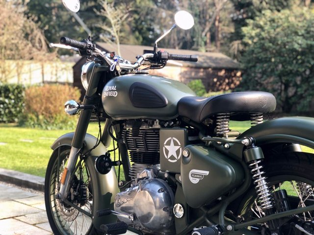 2018 67 ROYAL ENFIELD 500 CLASSIC  CLASSIC 500 EFI // E4 // Battle Green // 27 BHP // px // swap