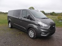 2019 FORD TRANSIT CUSTOM L2 H1 DCIV, Double cabin van, 130 Auto, Limited, Sat nav, Full Leather £23999.00