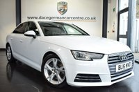 """USED 2016 16 AUDI A4 2.0 TDI ULTRA SE 4DR 148 BHP full service history *NO ADMIN FEES* FINISHED IN STUNNING GLACIER WHITE WITH FULL BLACK LEATHER INTERIOR + FULL SERVICE HISTORY + SATELLITE NAVIGATION + BLUETOOTH + HEATED SEATS + XENON LIGHTS+ CLIMATE CONTROL + DAB RADIO + CRUISE CONTROL + HEATED  MIRRORS + PARKING SENSORS + AUTO LIGHTS + UPGRADED 17"""" ALLOY WHEELS"""