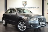 "USED 2013 63 AUDI Q3 2.0 TDI QUATTRO S LINE 5DR AUTO 175 BHP full service history *NO ADMIN FEES* FINISHED IN STUNNING DAYTONA METALLIC GREY WITH HALF LEATHER INTERIOR + FULL SERVICE HISTORY + BLUETOOTH + SPORT SEATS + AIR CON + HEATED MIRRORS + PARKING SENSORS + 18"" ALLOY WHEELS"