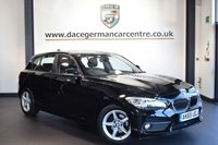 "USED 2015 65 BMW 1 SERIES 1.5 116D ED PLUS 5DR 114 BHP full bmw service history *NO ADMIN FEES* FINISHED IN STUNNING BLACK WITH ANTHRACITE UPHOLSTERY + SATELLITE NAVIGATION + FULL BMW SERVICE HISTORY + BLUETOOTH + DAB RADIO + PARKING SENSORS + RAIN SENSOR + CRUISE CONTROL RAIN SENSORS + FOG LIGHTS + 16"" ALLOY WHEELS"