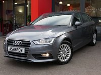 USED 2015 65 AUDI A3 SPORTBACK 2.0 TDI SE TECHNIK 5d 150 S/S £20 ROAD TAX, FULL SERVICE HISTORY, SAT NAV, REAR ACOUSTIC PARKING SENSORS, CRUISE, DAB DIGITAL RADIO, BLUETOOTH PHONE & MUSIC STREAMING, AUDI MUSIC INTERFACE FOR IPOD/USB DEVICES (AMI), FRONT FOGS, HEADLAMP WASHERS, 16 INCH MULTI SPOKE ALLOYS, GREY CLOTH INTERIOR, LEATHER MULTIFUNCTION STEERING WHEEL, A/C, CD HIFI W/ 2x SD CARD READERS, FRONT CENTRE ARM REST, ELECTRIC WINDOWS, ELECTRIC HEATED DOOR MIRRORS, SPLIT FOLDING REAR SEATS, ISO FIX, 3x 3 POINT REAR SEAT BELTS, VAT QUALIFYING.
