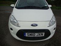 USED 2010 10 FORD KA 1.2 STYLE 3d 69 BHP