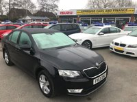 USED 2013 13 SKODA OCTAVIA 1.4 SE TSI 5d 139 BHP IN METALLIC BLACK WITH ONLY 75,000 MILES ON THE CLOCK APPROVED CARS ARE PLEASED TO OFFER THIS SKODA OCTAVIA 1.4 SE 5 DOOR 139 BHP IN METALLIC BLACK WITH 75,000 MILES WITH A FULL SERVICE HISTORY AT 12K, 31K,44K,54K, AND 62K. THIS VEHICLE HAS A GREAT SPEC SUCH AS BLUETOOTH, ALLOY WHEELS , ELECTRIC WINDOWS, TOUCHSCREEN MULTIMEDIA SYSTEM AND MUCH MORE. PERFECT FAMILY SALOON VERY LOW INSURANCE AND GREAT MPG DUE TO LOW LITRE ENGINE