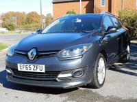 USED 2015 65 RENAULT MEGANE 1.6 dCi ENERGY Limited Nav Sport Tourer (s/s) 5dr 6 Speed,60+ MPG,£20 Tax & S/H