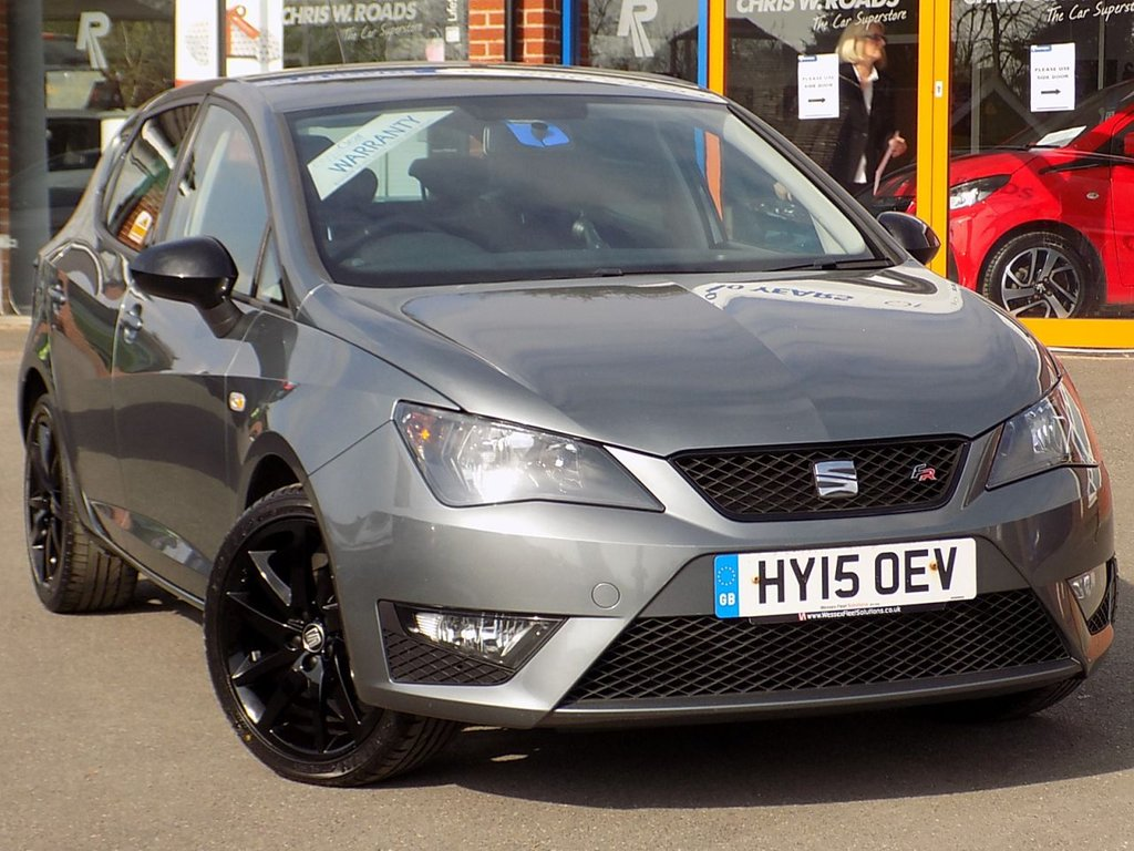 USED 2015 15 SEAT IBIZA 1.2 TSi FR Black 5dr ** Sat Nav + Black Pack **