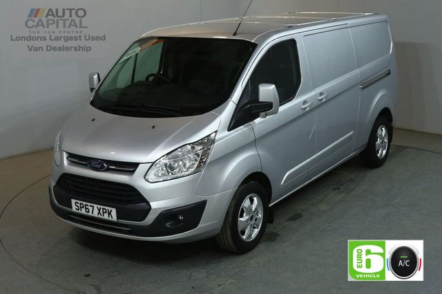 2017 67 FORD TRANSIT CUSTOM 2.0 290 LIMITED 130 BHP L2 H1 LWB EURO 6 AIR CON VAN