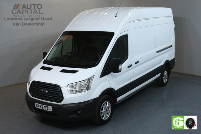 2017 67 FORD TRANSIT 2.0 350 TREND L3 H3 LWB 129 BHP RWD EURO 6 AIR CON MANUFACTURER WARRANTY UNTIL 30/10/2020