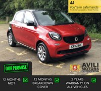 USED 2016 16 SMART FORFOUR 1.0 PASSION 5d 71 BHP