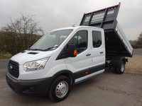 2019 FORD TRANSIT 69 Plate L3 double cab tipper, One stop shop tipper 130ps, Rear wheel drive, Dual rear wheel £23999.00