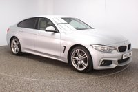 USED 2016 16 BMW 4 SERIES GRAN COUPE 3.0 430D M SPORT 4DR AUTO SAT  PRO NAV HEATED LEATHER 255 BHP FULL BMW HISTORY FULL BMW  SERVICE HISTORY + HEATED LEATHER SEATS + SATELLITE NAVIGATION PROFESSIONAL + PARKING SENSOR + BLUETOOTH + CRUISE CONTROL + CLIMATE CONTROL + MULTI FUNCTION WHEEL + XENON HEADLIGHTS + DAB RADIO + ELECTRIC WINDOWS + 18 INCH ALLOY WHEELS