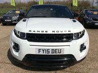 "USED 2015 15 LAND ROVER RANGE ROVER EVOQUE 2.2 SD4 DYNAMIC LUX 3d AUTO 190 BHP ONE OWNER, PANORAMIC ROOF, SAT NAV, FULL LEATHER, HEATED SEATS, CLIMATE CONTROL, 20"" ALLOYS, PARKING SENSORS, REVERSE CAMERA, 3 LAND ROVER SERVICES, SPARE KEY"