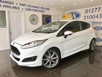 2015 FORD FIESTA 1.0 ZETEC S 3d 139 BHP £8300.00