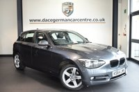 USED 2015 64 BMW 1 SERIES 2.0 118D SPORT 5DR AUTO 141 BHP superb service history *NO ADMIN FEES* FINISHED IN STUNNING MINERAL METALLIC GREY WITH ANTHRACITE UPHOLSTERY + SUPERB SERVICE HISTORY + BLUETOOTH + DAB RADIO + SPORT SEATS + RAIN SENSORS + FOG LIGHTS + SPORT LINE + ALLOY WHEELS