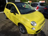 """USED 2010 59 FIAT 500 1.2 CONVERTIBLE POP 3d 69 BHP *Optional Extra Full Black Leather with Yellow Piping + Optional Extra 15"""" Alloy Wheels + Optional Extra Air-Conditioning* Low Mileage! Comprehensive Service History + Serviced by ourselves, MOT until April 2020, Two Previous Owners, Minimum 8 months MOT, Great fuel economy! Only £30 Road Tax!"""