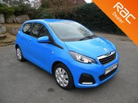 USED 2016 16 PEUGEOT 108 1.0 ACTIVE 5d 68 BHP Low Insurance Group, Free To Tax, Touchscreen Radio, Bluetooth, Air Con