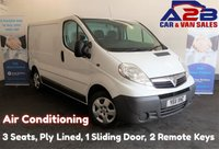 2011 VAUXHALL VIVARO 2.0 2700 CDTI 115 BHP, 3 Seats, Air Conditioning, Ply Lined, Electric Pack, 2 Remote Keys £3480.00